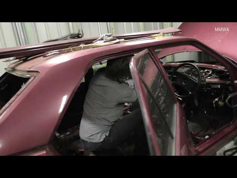 Mercedes W124 - We remove the complete sunroof frame