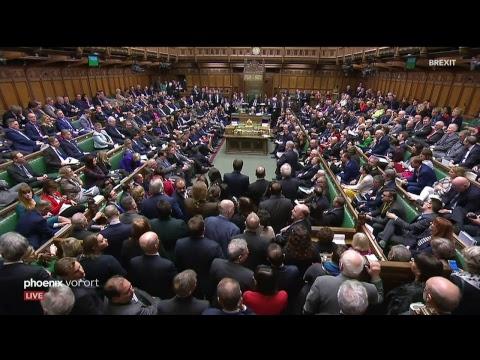 Debatte und Abstimmung über das Brexit-Abkommen im britischen Unterhaus am 13.03.19