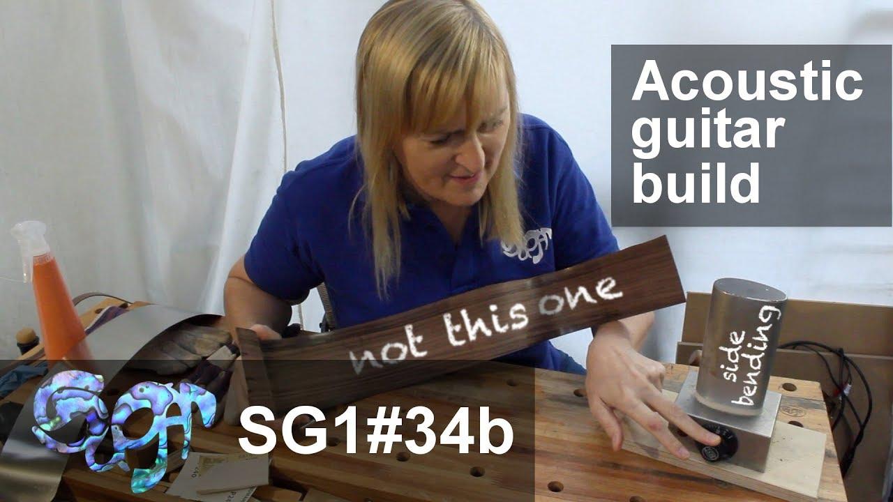 SuGar SG1 acoustic guitar build part 34b: Bending the left side