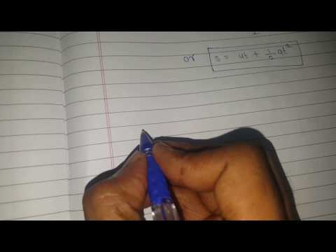 Three Equations Of Motion _learn Physics With Fun (because Simply It Is Amazing)
