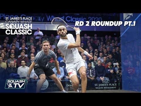 Squash: SJP Canary Wharf Classic 2020 - Rd 2 Roundup [Pt.1]