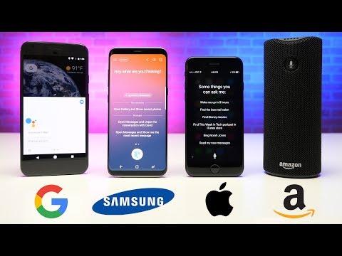Alexa vs. Siri vs. Google Assistant vs. Bixby RAP BATTLE!