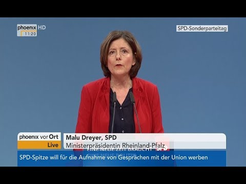 SPD (2018/01/21): Eröffnungrede von Malu Dreier beim SP ...