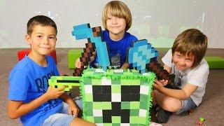 türkçe izle  minecraft çizgi film oyuncakları ile oyun. erkek çocukları için videooyun