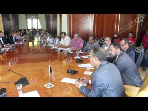 اجتماع وزير الاقتصاد والصناعة بمديري مراكز الخدمات الاقتصادية
