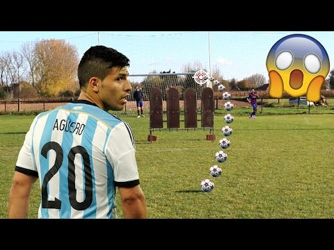 KUN AGUERO IMPOSSIBLE GOAL IN REAL LIFE FOOTBALL!!! BEST GOALS RECREATED!! #10