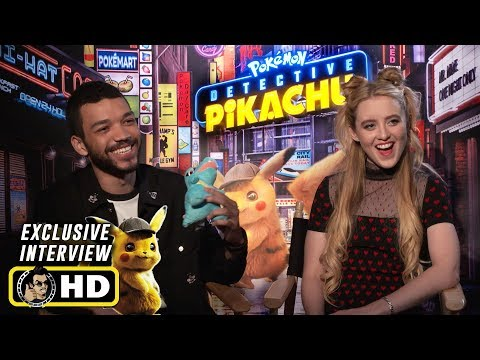 Justice Smith & Kathryn Newton Interview for Pokemon: Detective Pikachu