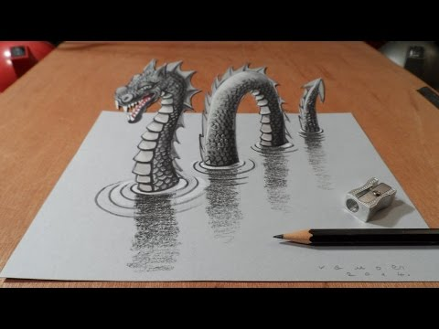 Video Drawing 3D Loch Ness Monster, Long Version download in MP3, 3GP, MP4, WEBM, AVI, FLV January 2017