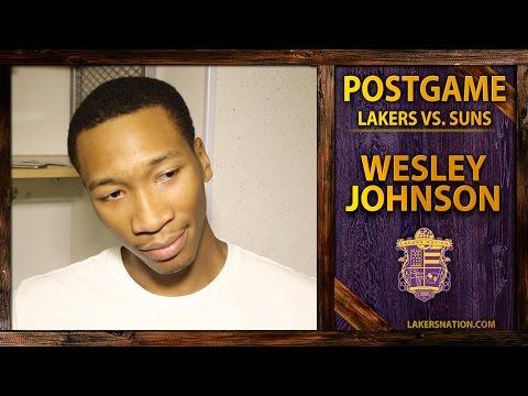 Video: Lakers vs. Suns: Wes Johnson Talks Confidence Struggle, Kobe Chimes In