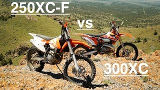 5. KTM 250XC-F Compared to KTM 300XC - Episode 133