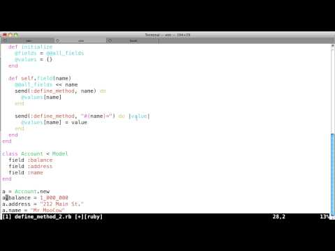 Ruby Metaprogramming Tutorial - Part 3 - ORM example