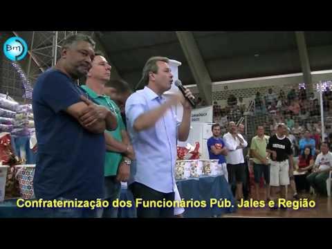Jales confraternização dos Funcionários de Jales e região lota Ginásio de esportes; um dos Secretários de Pedro Callado pode ter participação na ação de Inconstitucionalidade do 14º salário.