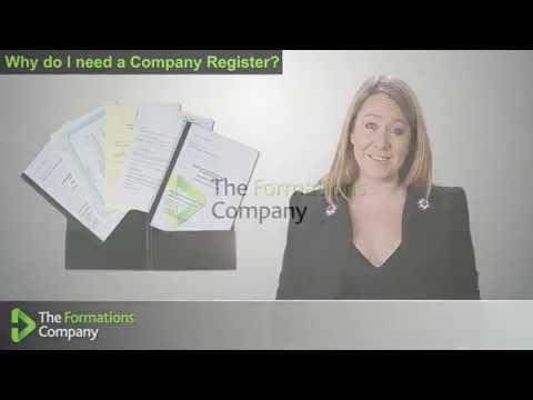 Why do I need a Company Register - The Formations Company