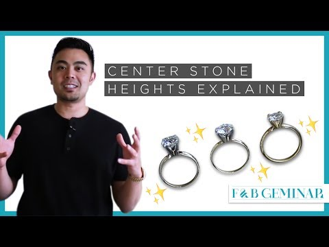 3 Types of Center Stone Setting Heights Explained - Low, Standard, & High