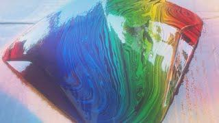 Rainbow Water transfer Hydrodipping Hydrographic using Samurai Paint
