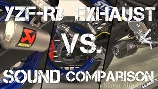 10. 2015 Yamaha YZF-R3 Exhaust Sound Comparison from Sportbiketrackgear.com