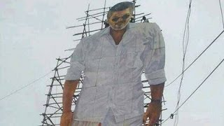 Ajith Fans Place 90 Feet Cutout In Nellai.