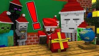 Monster School: OPENING CHRISTMAS PRESENT - Minecraft Animation