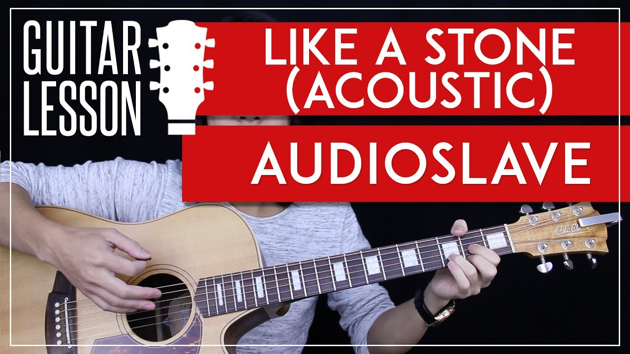 Like A Stone Guitar Tutorial Acoustic – Audioslave Chris Cornell Guitar Lesson 🎸 |Easy + No Capo|
