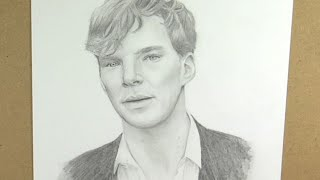 Benedict Cumberbatch Pencil Speed Drawing