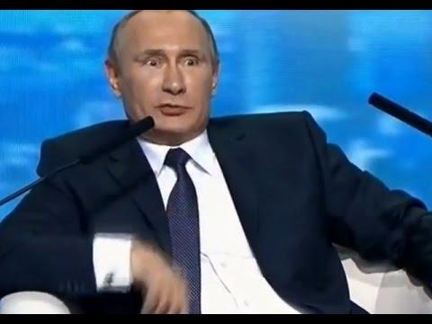 """Give him the mic, or he'll cut me!"" - Putin humour"