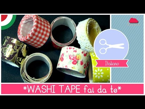 come fare in casa i washi tape - tutorial