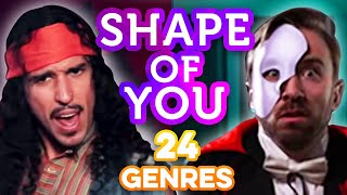 Video 24 Genres. Two Artists. One song - Shape of You Ed Sheeran MP3, 3GP, MP4, WEBM, AVI, FLV Juli 2018