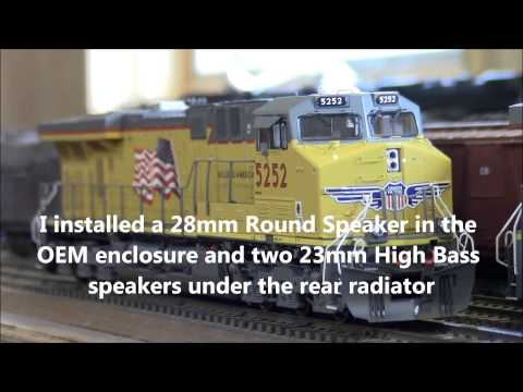 ES44AC - Newly released Genesis ES44AC Union Pacific C45ACCTE model from Athearn with QSI's newest GE sound file on the Titan decoder.
