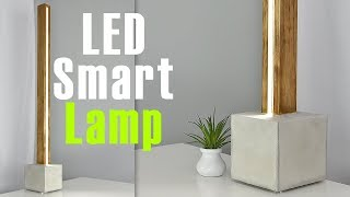 DIY LED Lamp with a CONCRETE base (Controlled it with A Mobile App)