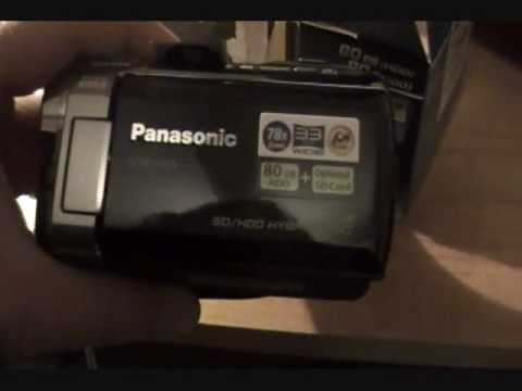 Unboxing the Panasonic SDR-H85 Camcorder