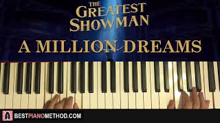 Video HOW TO PLAY - The Greatest Showman - A Million Dreams (Piano Tutorial Lesson) MP3, 3GP, MP4, WEBM, AVI, FLV Juni 2018