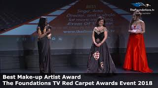 Anagha Singh wins The Foundations TV Best Make up Artist Award