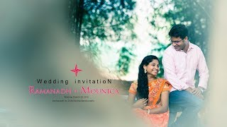Ramandha + Mounic wedding Invitation