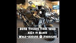 6. 2018 Triumph Tiger 1200 XCx in Black Walk Around @ Frontline Eurosports