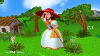 Little Bo Peep has Lost her Sheep - 3D Animation English Nursery rhymes for children