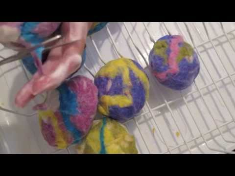 Felting soap balls