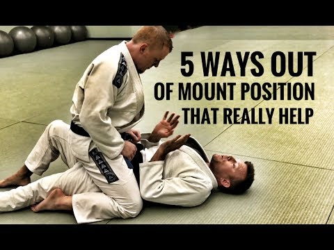 Jiu-Jitsu Escapes | 5 Ways Out of The Mount (видео)