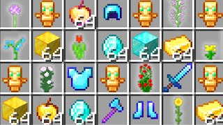 Minecraft UHC but flowers drop random OP loot..