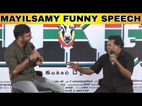 Funny movies - Mayilsamy Funny Speech  LKG Movie  RJ Balaji  Priya Anand