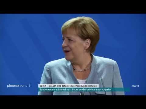 Pressekonferenz von Angela Merkel und Sebastian Kurz am ...