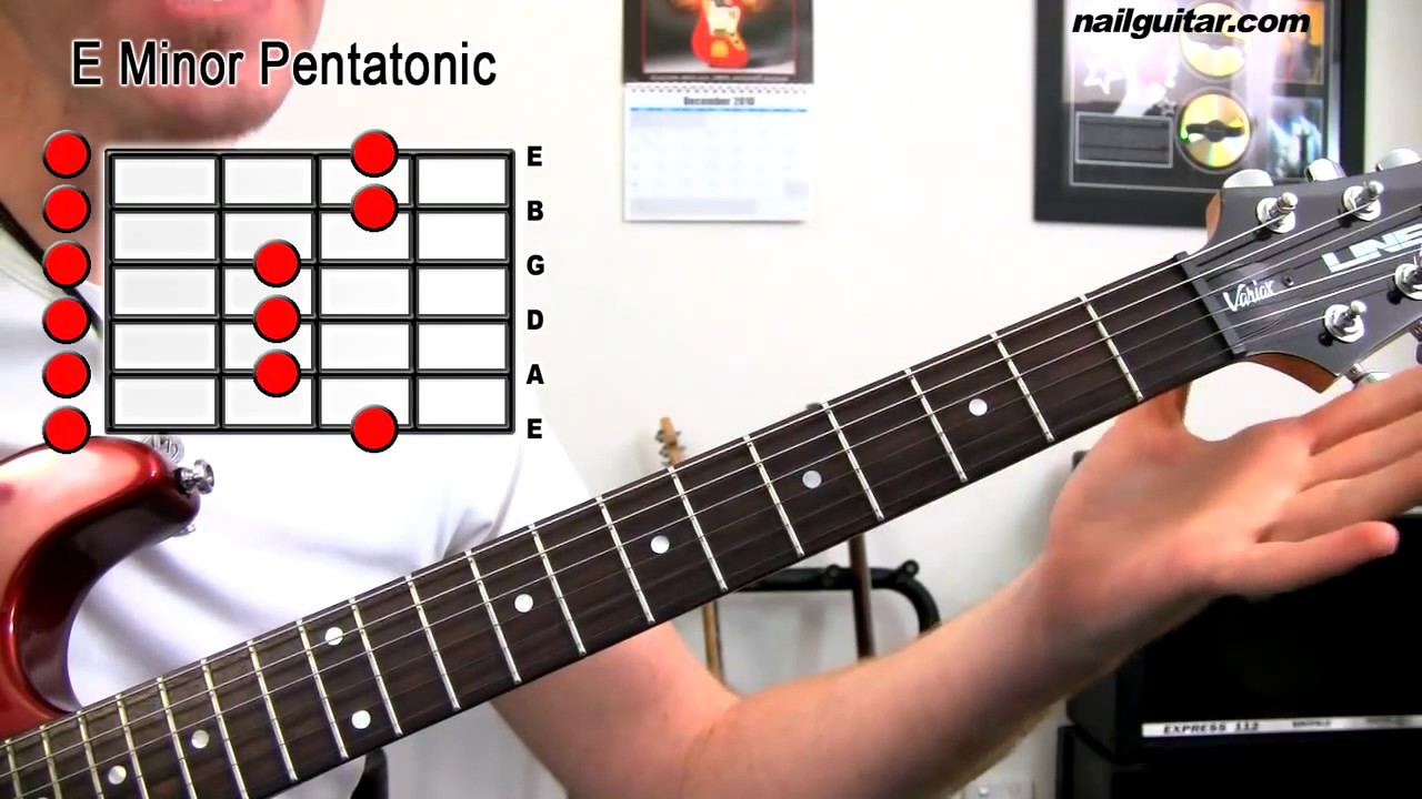 E Minor Pentatonic – Guitar Scale Lesson (Beginners First Step To Soloing)