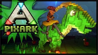 TAMING FIRST DINO'S & TREASURE CHESTS!! | PixARK Gameplay #2