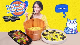 Video E60 Hot stone cooking the new cool dishes in my office | Ms Yeah MP3, 3GP, MP4, WEBM, AVI, FLV November 2018