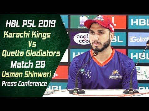 Match 28 - Post Match Press Conference: Karachi Kings Vs Quetta Gladiators | Usman Shinwari - Thời lượng: 5 phút, 44 giây.