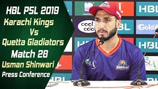 Match 28 - Post Match Press Conference: Karachi Kings Vs Quetta Gladiators | Usman Shinwari