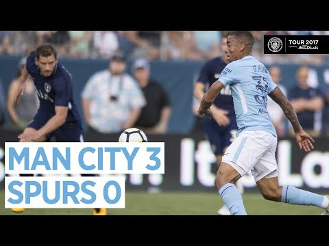 Video: GOALS & HIGHLIGHTS! Man City vs Tottenham 3-0   29 July 2017