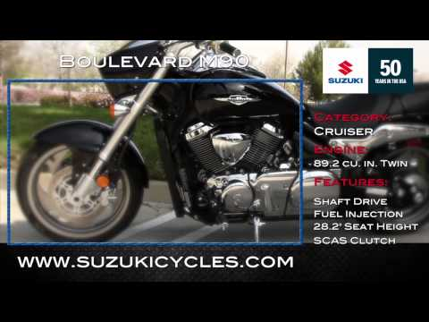 M90 - This video is the fifth segment of the show #11. Great head to Suzuki to ride the 2013 M90 Boulevard Cruiser and give you some impressions. All links to info...