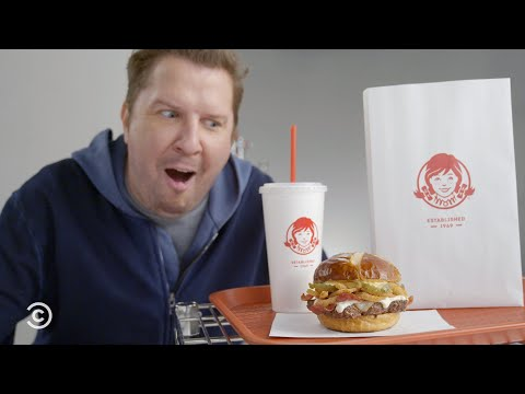 Nick Swardson Reads for Wendy's Pretzel Bacon Pub Cheeseburger Commercial