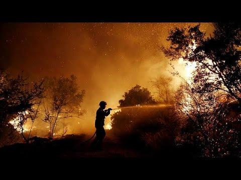 Πύρινα μέτωπα σε όλη την Ελλάδα-Μάχη με τις φλόγες στη βορειοανατολική Αττική