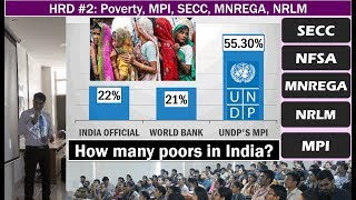 - Computation of poverty in India: 1) Suresh Tendulkar Method 2) socio-economic caste Census 2011. - Poverty removal: MNREGA, NRLM, Mission antyodaya.- Global hunger index by International Food Policy Research Institute (IFPRI), National Food security Act- Economic survey ch.10: Income, health, fertility: convergence puzzles, why backward states are not growing at a faster rate? Why Labour mobility reforms are required Before the end of the demographic dividend?Word of wisdom for the path ahead.Youtube Link: https://youtu.be/pwyWfhJ66I8- Faculty Name: You know who - All Powerpoint available at http://mrunal.org/powerpoint- Exam-Utility: UPSC IAS IPS Civil service exam, Prelims, CSAT, Mains, Staff selection SSC-CGL, IBPS-PO/MT, IBPS-CWE, SBI PO & Clerk, RBI and other banking exams; LIC, EPFO, FCI & other PSU exams; CDS, CAPF and other defense services exams; GPSC, MPPCS, RPSC & other State PCS services exams with Indian Economy, Budget, Banking, Public Finance in its syllabus- with descriptive questions and answer writing.